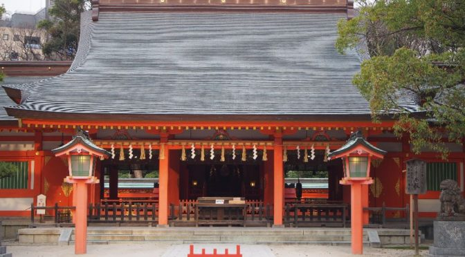 博多天神を街ブラ(櫛田神社・ひょうたん寿司・住吉神社)‥九州旅行 2019 ⑩