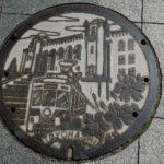 豊橋駅周辺で見つけたデザインマンホールの蓋3枚