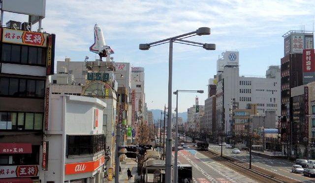 豊橋駅東口から市電に沿って歩いて散策。懐かしのほの国百貨店も【2013年】