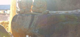 中宿鎮座 諏訪神社を参拝。明治天皇が座った石がある安中市の神社