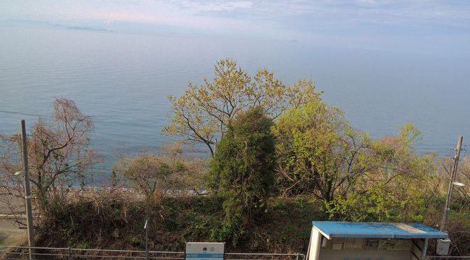愛媛の秘境駅・串駅を独り占め。ホームから海を眺める【予讃線】