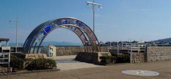 児島観光港の乗り場と旧野崎浜灯明台を訪ねる