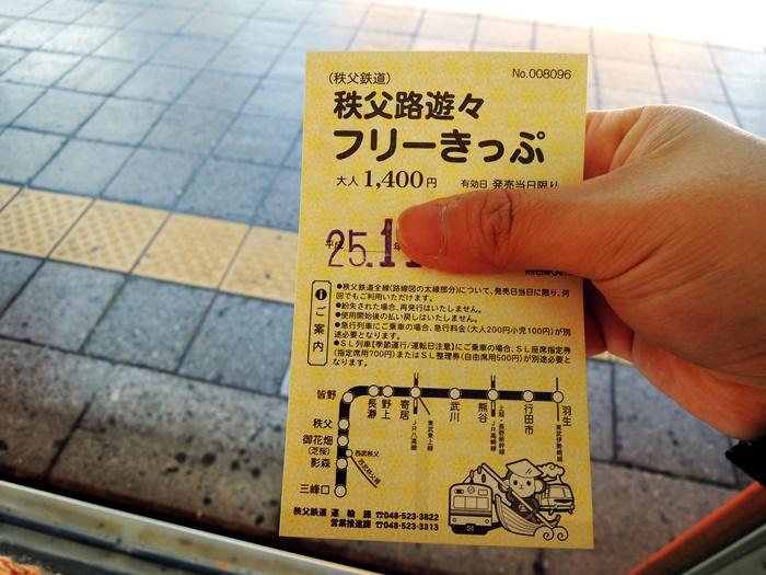 秩父鉄道フリー切符