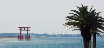 弁天島海浜公園の赤鳥居を見て、舞坂宿を歩く【JR弁天島駅から散策】