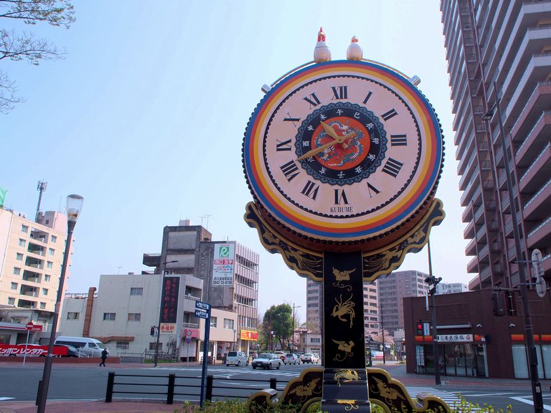 JR久留米駅_からくり太鼓時計