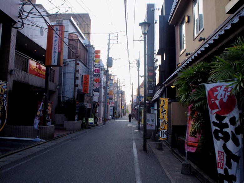 久留米の細い路地